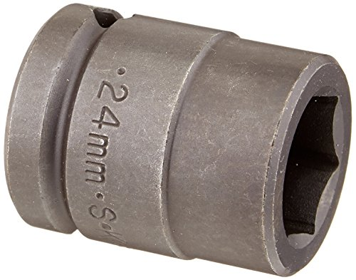 SK Hand Tool 84724 3/4-Inch Drive Standard Impact Socket, 24mm