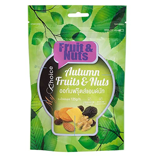 My Choice, Fruit & Nuts, Autumn Fruits & Nuts, net weight 125 g (Pack of 1 piece) / Beststore by KK8