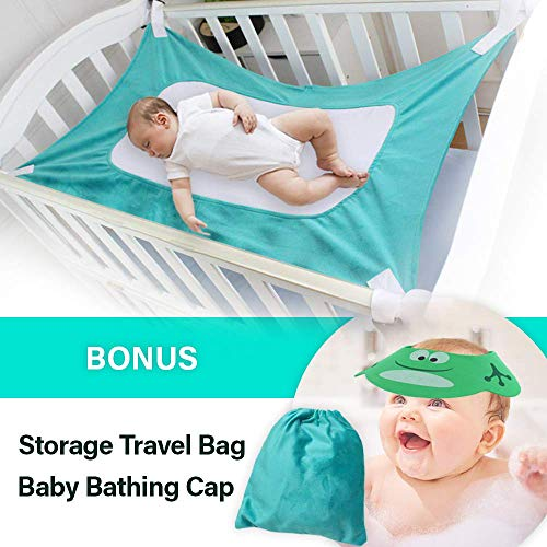 Upgraded Baby Hammock for Crib - Safe Comfortable Healthy Sleep for Newborn - Essentials Bassinet Breathable Mimics Womb Cradle for Boys Girls- Travel Portable Mesh Nursery Nap Reduce Risks Infant Bed