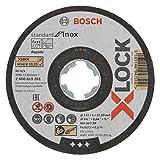 Bosch Professional 2608619266 Pack of 10 Straight Cutting Disc Standard (for INOX, X-Lock, Diameter 115 mm, Bore Diameter 22.23 mm, Thickness 1 mm)