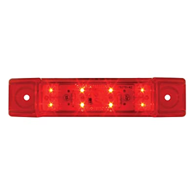 Grand General 76262 Red Rectangular Wide Angle 8 LED Marker/Clearance Light with Red Lens: Automotive