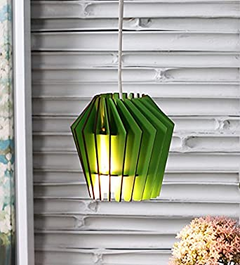 The Brighter Side Whirlpool Green MDF Pendant Light