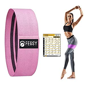 FEGSY-Fabric-Resistance-Loop-Bands-for-Exercise-and-Workout-Non-Slip-Hip-Booty-Bands-for-Squats-Legs-Thigh-Glutes-and-Butt-Ideal-for-Men-and-Women