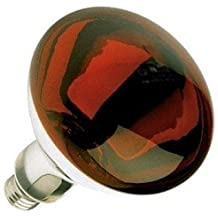 Red Heat Lamp 250 Watts BR40 5,000 Hours Long Life Light Bulb Industrial Grade, Red