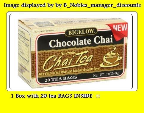 20 Bag 1 Box (Bigelow Chocolate Chai Tea 1 Box with 20 Bags)