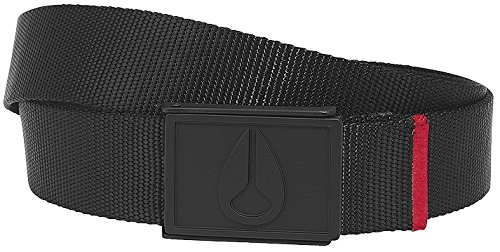 Nixon Mono Enamel Wings Belt - Black/Dark Red