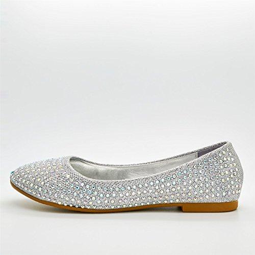 London Footwear ,  Damen Ballett Silber