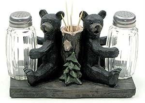 Salt & Pepper Bears with Toothpick holder