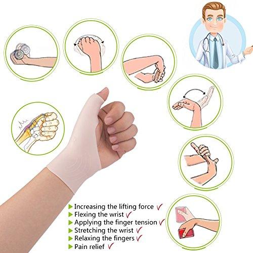 Phileex Carpal Tunnel Wrist Brace - Thumb Brace Right Hand (1pair) New Material Thumb Splint, Great for Tenosynovitis Gel Wrist Brace Carpal Tunnel, Typing, Wrist & Thumb Pain, Rheumatism,Arthritis by Phileex (Image #2)