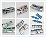 Fedexing 6units 5Instruments Cassette & 1silicone Dental Surgical Sterilization Tray Racks With Lock