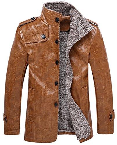 Faux Fur Collar Jacket - 7