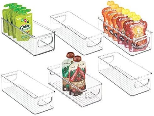 mDesign Stackable Plastic Kitchen Refrigerator product image