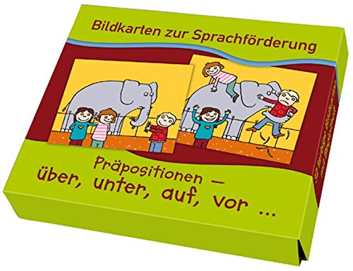 Präpositionen: über, unter, auf, vor... (Bildkarten zur Sprachförderung)