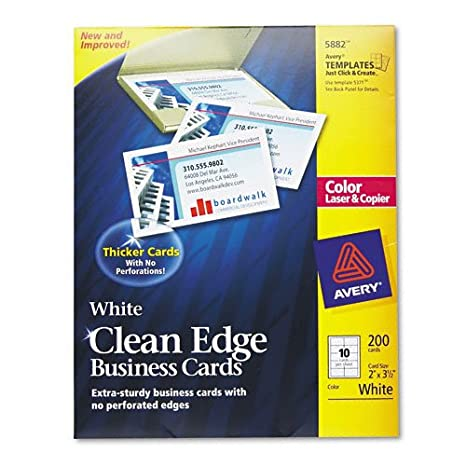 Amazon avery two side clean edge business cards white pack avery two side clean edge business cards white pack of 200 5882 reheart Image collections
