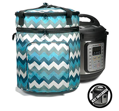 Helpful Household Carrying Bag Compatible With Instant Pot (6 Qt), Travel Tote Bag For 6qt Pressure Cookers and Accessories, Colorful Pressure Cooker Bag, Beautiful Carry Bag (Insta Totes)