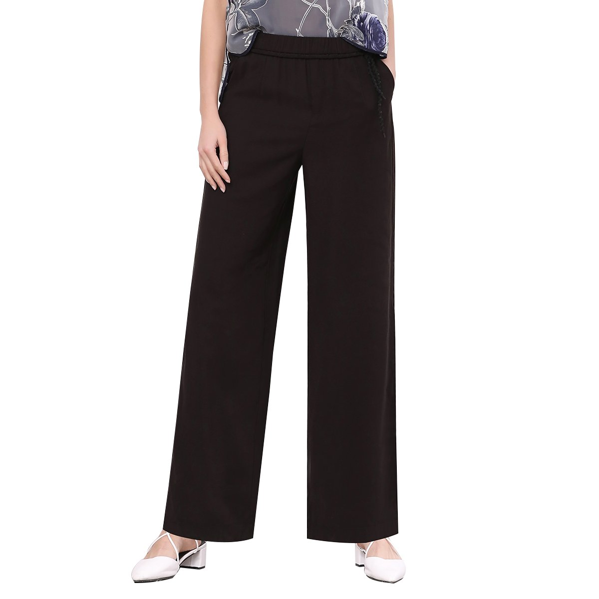 foluosidi Casual Trousers for Women Straight Pant Business Casual Pants High Waist Long Trouser Pant