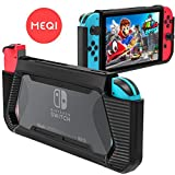Protective Case for Nintendo Switch, Meqi Hard Shell Cover Premium Slim Clear Hybrid Grip Case for Nintendo Switch with Shockproof & Anti Scratch - Black & Clear