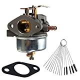 Dosens 632334A Carburetor for Tecumseh 632110 632111 632334 632370 632536 640105 632334A 632370A 7hp 8hp 9hp HM70 HM80 HMSK80 HMSK90 Snow Blower King Engine Carb with Free Gasket & Carbon Dirt Jet Cleaner Tool Kit