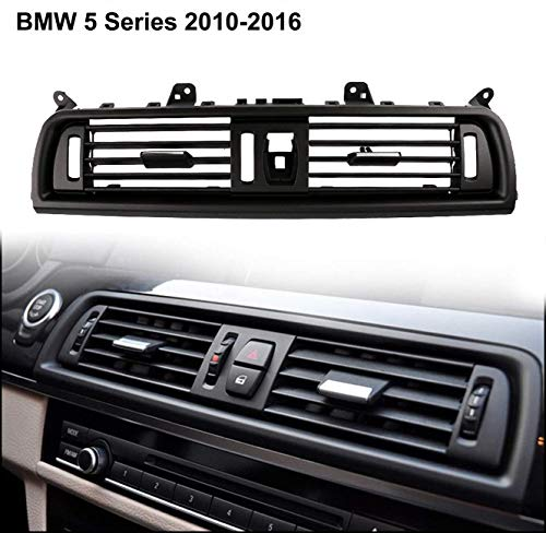 ALAVENTE Upgraded Front Air Grille, Front Console Grill Dashboard AC Air Conditioning Air Vent for BMW 5 Series 520 523 525 528 530 535 F10/F11/F18