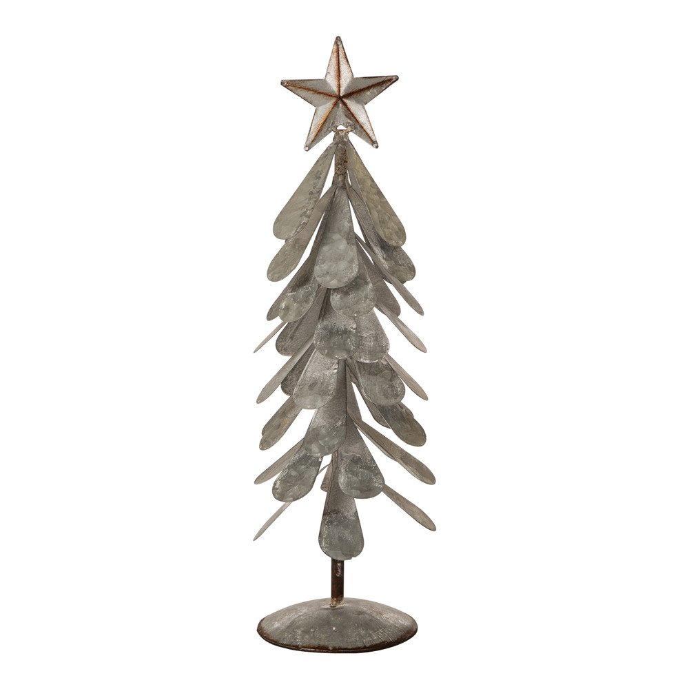 Glitzhome 1114004057 Iron Christmas Tree, 18'' H, Xmas
