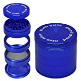 """Grinder for Herbs and Spices with Large Catcher 5 Piece 2.5"""" Food Grade"""