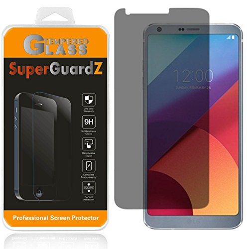 [2-Pack] For LG G6 - SuperGuardZ Privacy Anti-Spy Tempered Glass Screen Protector, 9H Anti-Scratch, 2.5D Round Edge, Anti-Bubble [Lifetime Replacements]