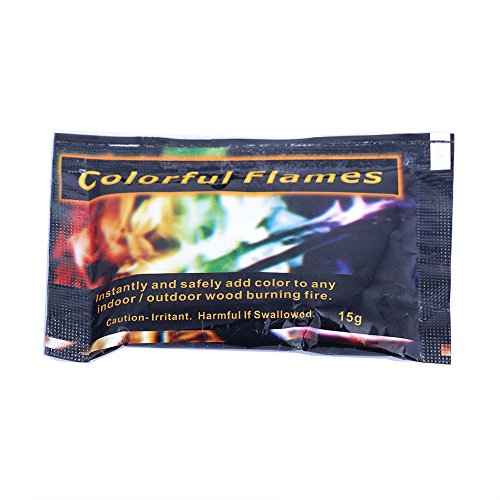 Colorful FLames Campfire Fireplace Colorant 0.53 oz Packets 12 Pack