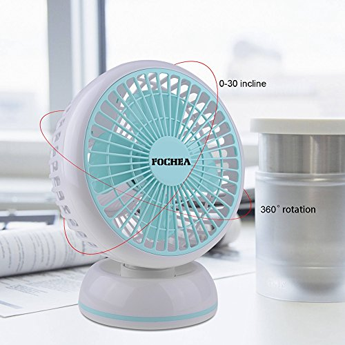 Usb Desk Fan Fochea 360 Degree Rotation 6 Inch Quiet