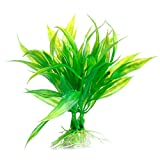 MEXUD-Green Artificial Plastic Water Grass Plant Ornament For Fish Tank Aquarium Decor