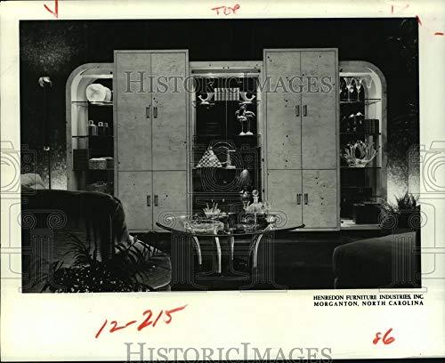 1981 Press Photo Five-unit arrangement of Henredon's