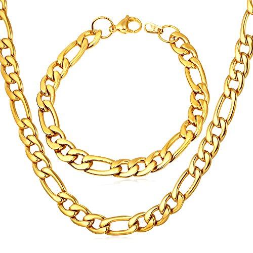 U7 Plated Italian Necklace Bracelet