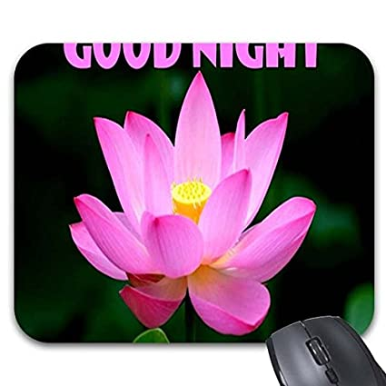 Amazoncom Smity 106 Mouse Pad Goodnight Image Flowers Quotes Good
