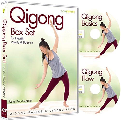 Qigong Box Set (2 DVD's, Qigong Basics & Qigong Flow) with Mimi Kuo-Deemer (Qi Gong For Self Healing Lee Holden)