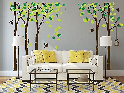 ANBER Giant Jungle Tree Wall Decal Removable Vinyl Mural Art Wall Stickers for Kids Nursery Bedroom Living Room by ANBER