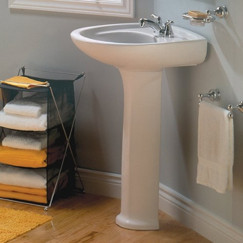 Durable Modeling American Standard 0115.404.020 Colony 21 Inch Pedestal Sink  Basin With 4