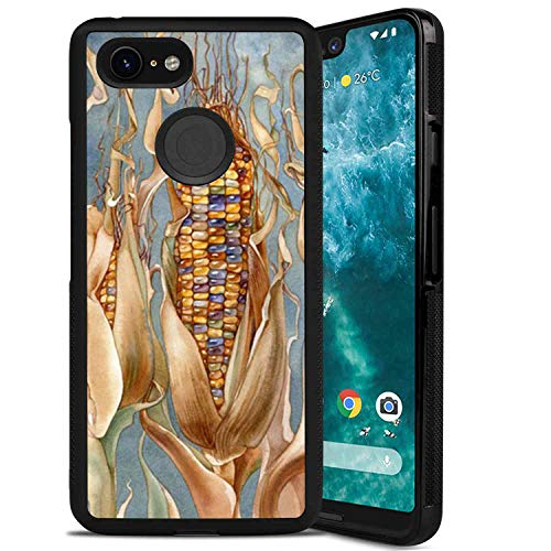 (Colored Corn Case TPU+PC Compatible Google Pixel 3 XL 6.3in)