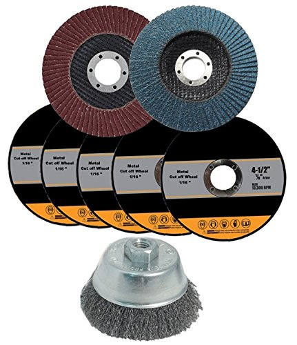 Angle Grinder Accessories and Attachments Kit - Set of 8