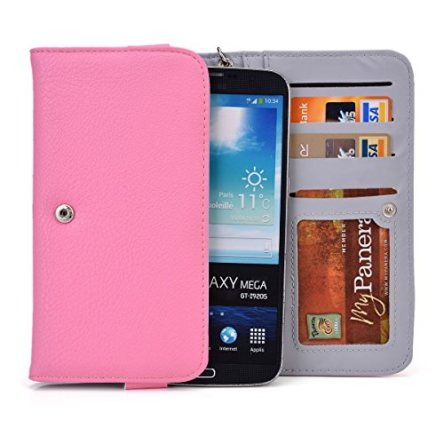 TP-LINK Neffos C5 Max PU Leather (XXL) Wristlet Phone Cases In Pink...