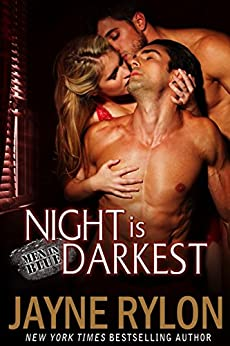 Night is Darkest: An MMF Bisexual Romance (Men in Blue Book 1) by [Rylon, Jayne]