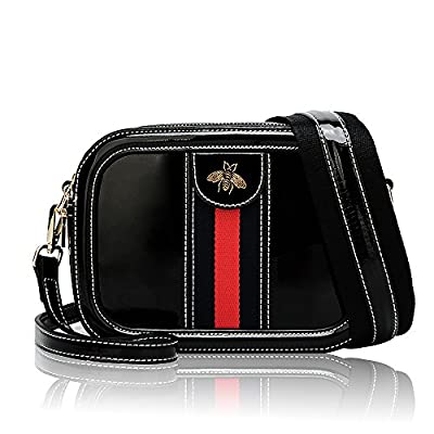 Beatfull Women Genuine Leather Designer Shoulder Bag Camera Crossbody Bag Mini Bee Handbag