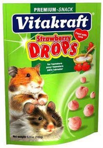 Vitakraft Hamster Strawberry Drops and 5.3-Ounce Pouch, My Pet Supplies