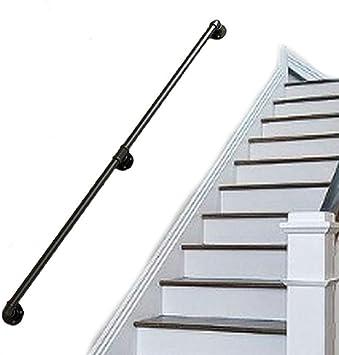 ZBMZBM Escalera De Hierro Barandilla Tubería Hogar Interior Loft Contra La Pared Vieja Manija Antideslizante Jardín De Infantes (Size : 100cm): Amazon.es: Bricolaje y herramientas