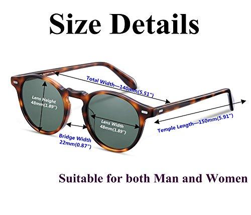 991b1c8e621 EyeGlow Vintage Round Sunglasses Women Sunglasses Men Polarized Lens  Acetate material
