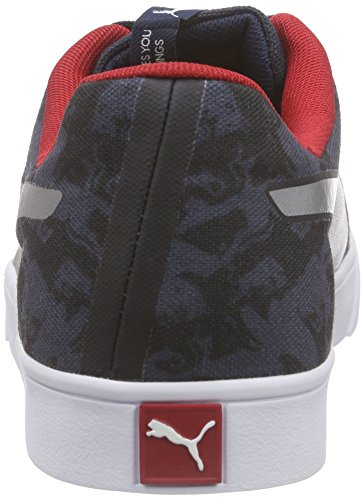 Puma IRBR Wings Vulc Stpd Unisex-Erwachsene Low-Top Blau (total eclipse-smoked pearl 01)
