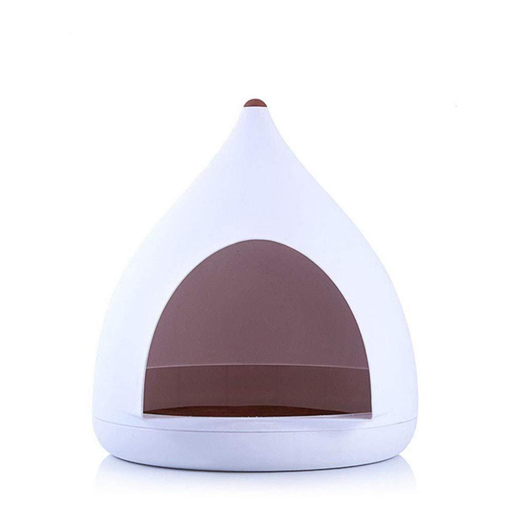 Pet bed Modern Yurt Four Seasons Detachable Wash Cat Litter Small Kennel White Spire, Load 20kg, 50x50x52cm