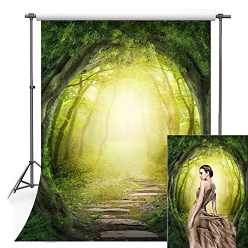 - F-Fun Soul Fairy Tale Backdrop Forest Background Fantasy Wonderland Photography Backdrops for Kids Party Cotton Photo Video Studio Props 5x7ft FS014