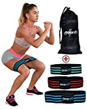 NEW Booty Resistance Bands Hip Loop Bands for Legs and Butt Workout -Set of 3 Fabric Non Slip Glute Elastic Exercise Band for Warm-Up and Squat -Activate Quads & Thighs, Thick, Wide Cloth, Women Review