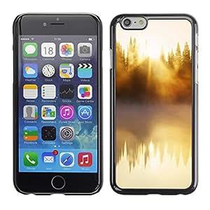 Paccase / SLIM PC / Aliminium Casa Carcasa Funda Case Cover - Nature Beautiful Forrest Green 48 - Apple Iphone 6