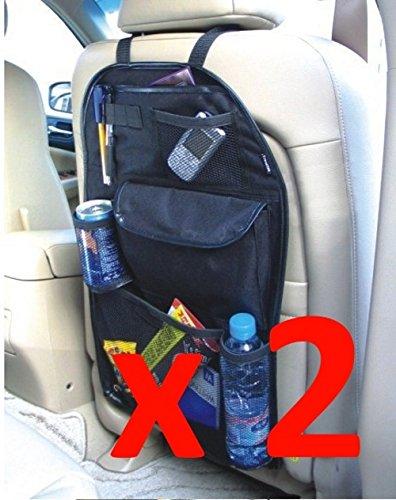 2 x Kabalo Universal Auto R/ücksitztasche Organizer with mit Drinks und Schirmhalter Holder /& 7 separaten Stauf/ächer H/öhe 55cm x Breite 36cm