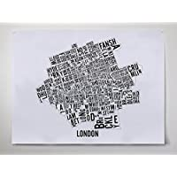 London (Ontario) Neighbourhoods City Map - London Art - London Poster